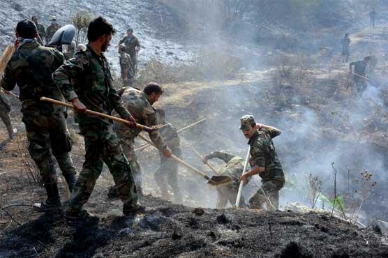 شام:جنگلات میں آگ لگانیوالے 24افراد کو سزائے موت دیدی گئی