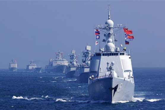 چین، روس کی بحریہ کا پہلی بار بحراوقیانوس کے مغربی حصہ میں مشترکہ گشت