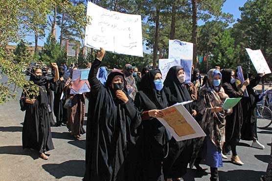 Taliban close to forming government as women protest