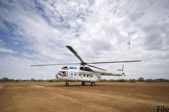 WFP planes, helicopters arrive in Pakistan to deliver food to Afghanistan