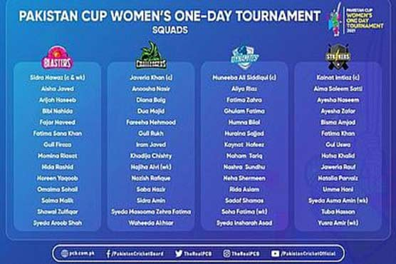 Pakistan Cup Women's One-Day Tournament begins in Karachi on September 9