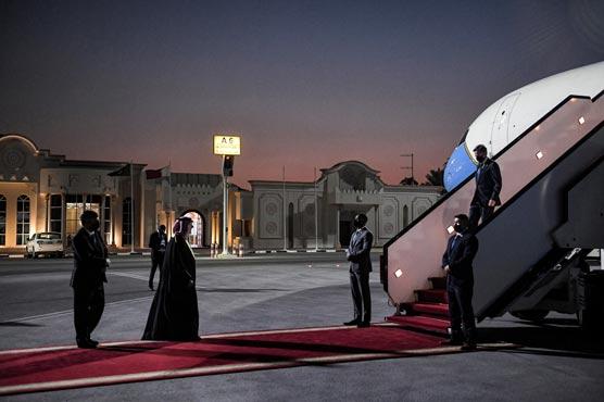 Blinken arrives in Qatar as four Americans leave Afghanistan