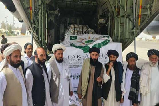 Pakistan's second aircraft with relief goods lands in Kandahar