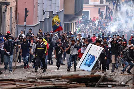 ایکواڈور میں ہزاروں افراد کا صدر کی معاشی اور لیبر پالیسیوں کے خلاف سڑکوں پر احتجاج