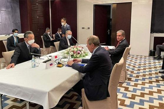 FMs of Pakistan, Russia, China, Iran discuss Afghanistan, regional peace
