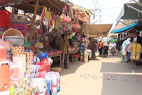 فیصل آباد کے علاقے منصور آباد بازار کی گرین بیلٹ پر قبضہ مافیا کا راج قائم