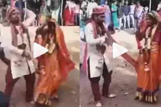 شادی کی تقریب میں دلہا دلہن کے ڈانس کی ویڈیووائرل