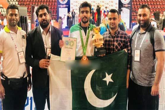 ترکی: ماس ریسلنگ ورلڈ کپ میں پاکستان نے 3 کانسی کے تمغے حاصل کر لئے