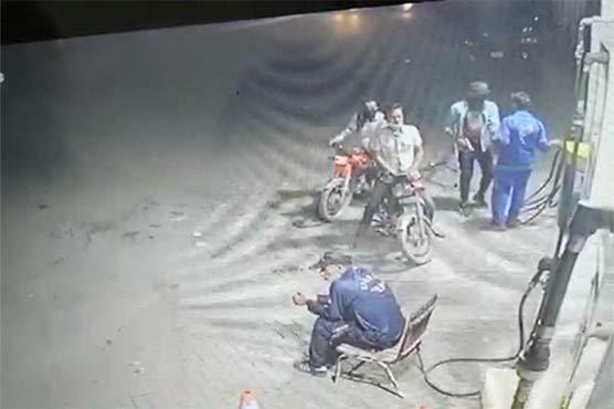Robbers loot petrol pump in Lahore