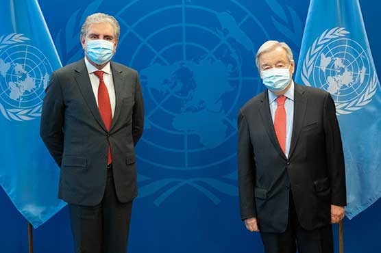 FM presents dossier to UNSG containing details of HR violations in IIOJ&K
