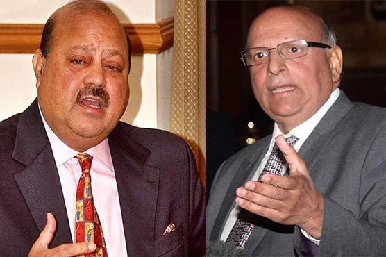 گورنر پنجاب چوہدری سرور سے صدر آزاد کشمیر سلطان محمود کی ملاقات