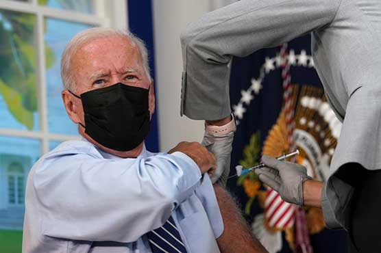 Biden gets Covid-19 vaccine booster shot